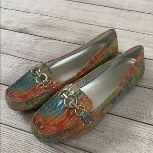 Anne Klein iFlex Floral Driving Shoes Loafers 10